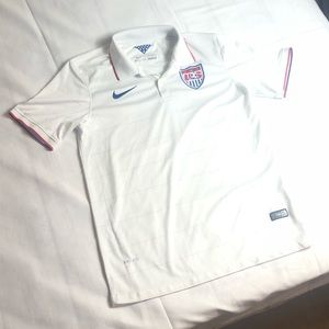 USA Soccer Olympic Jersey Nike Authentic Red Blue
